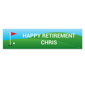Personalized Retirement Golf 5 Ft. Banner