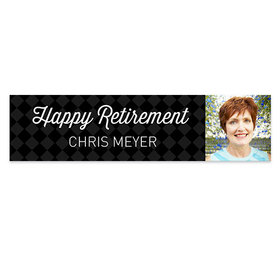 Personalized Retirement Photo 5 Ft. Banner