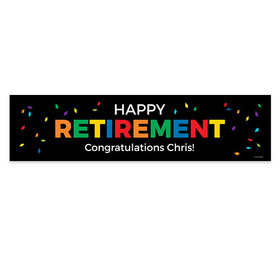 Personalized Retirement Confetti 5 Ft. Banner