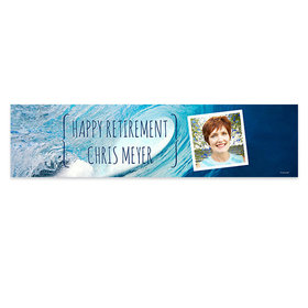 Personalized Retirement Ocean Wave 5 Ft. Banner