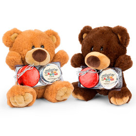 Personalized Retirement Passport Teddy Bear with Chocolate Covered Oreo 2pk