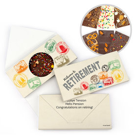 Personalized Passport Retirement Gourmet Infused Belgian Chocolate Bars (3.5oz)