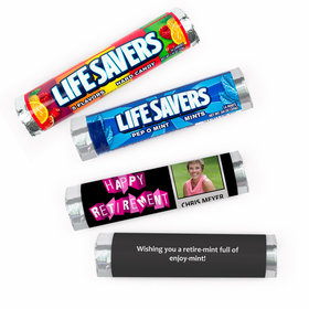 Personalized Retirement Poloroid Lifesavers Rolls (20 Rolls)