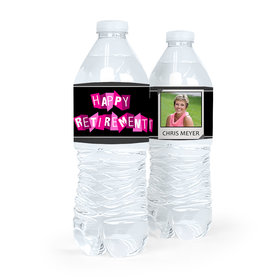 Personalized Retirement Poloroid Water Bottle Sticker Labels (5 Labels)