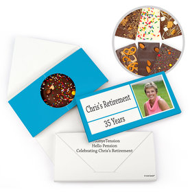 Personalized Colorful Kudos Retirement Gourmet Infused Belgian Chocolate Bars (3.5oz)