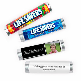 Personalized Retirement Color Block Lifesavers Rolls (20 Rolls)