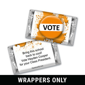 School Election Campaign Personalized HERSHEY'S MINIATURES Wrappers Vote For Me Pin