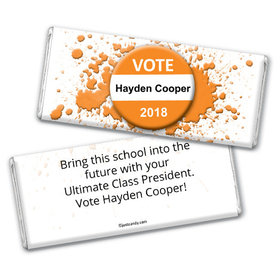 School Election Campaign Personalized Chocolate Bar Vote For Me Pin