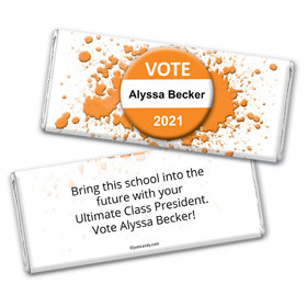 Vote 4 Me Personalized Candy Bar - Wrapper Only