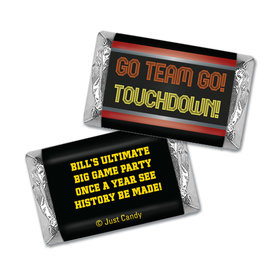 Personalized Super Bowl Themed Go Team Miniatures Wrappers