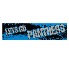 Let's Go Panthers Football Party 5 Ft. Banner
