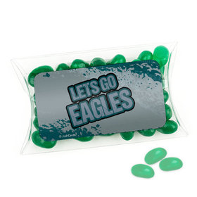 Let's Go Eagles Super Bowl Themed Pillow Box with Jelly Beans
