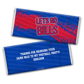 Personalized Bills Football Party Hershey's Chocolate Bar & Wrapper