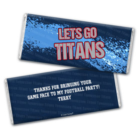 Personalized Titans Football Party Hershey's Chocolate Bar & Wrapper