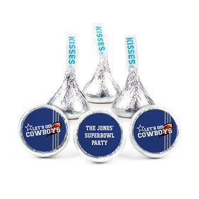 Personalized Cowboys Football Party Hershey's Kisses (50 pack)
