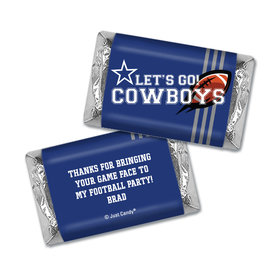 Personalized Cowboys Football Party Hershey's Miniatures