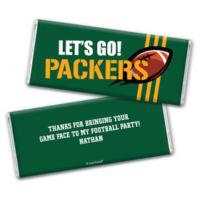 Personalized Packers Football Party Hershey's Chocolate Bar & Wrapper