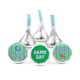 Personalized Super Bowl Themed Football Field Hershey's Kisses Candy (50 Pack)