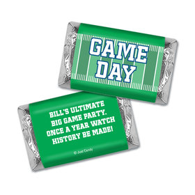 Personalized Super Bowl Themed Football Field Miniatures Wrappers