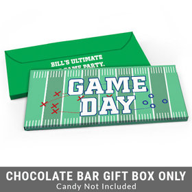 Deluxe Personalized Field Football Candy Bar Cover