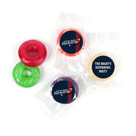 Life Savers 5 Flavor Hard Candy Personalized Patriots Football Party