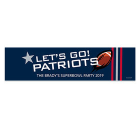Patriots Football Party 5 Ft. Banner