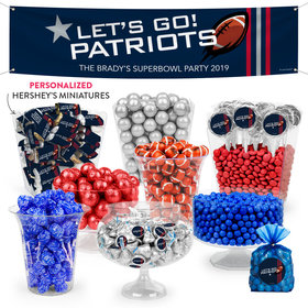 Personalized Patriots Football Party Deluxe Candy Buffet