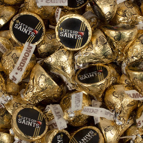 Let's Go Saints Hershey's Kisses Candy
