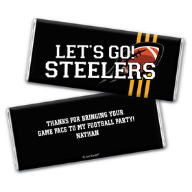 Personalized Steelers Football Party Chocolate Bar Wrappers Only