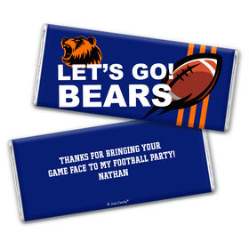 Personalized Bears Football Party Hershey's Chocolate Bar & Wrapper