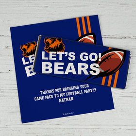 Personalized Bears Football Party Chocolate Bar Wrappers Only