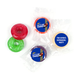 Life Savers 5 Flavor Hard Candy Personalized Chargers Football Party