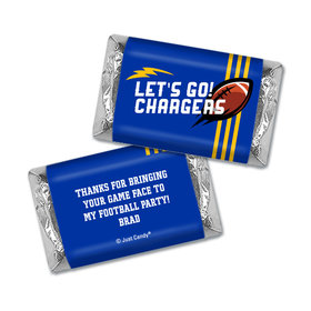 Personalized Chargers Football Party Hershey's Miniatures Wrappers
