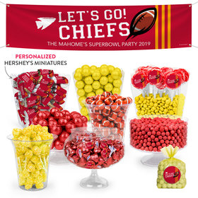 Personalized Chiefs Football Party Deluxe Candy Buffet