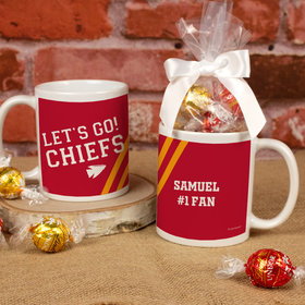 Personalized Let's Go! Chiefs 11oz Mug with Lindt Truffles