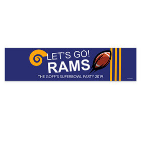 Rams Football Party 5 Ft. Banner