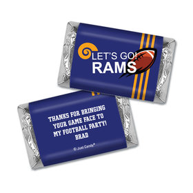 Personalized Rams Football Party Hershey's Miniatures Wrappers