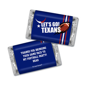 Personalized Texans Football Party Hershey's Miniatures