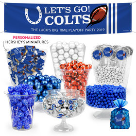 Personalized Colts Football Party Deluxe Candy Buffet