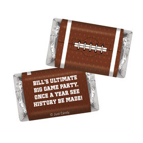 Personalized Super Bowl Themed Football Hershey's Miniatures Candies