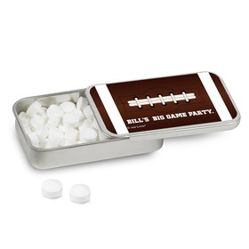 Personalized Super Bowl Themed Football Mint Tin (12 Pack)