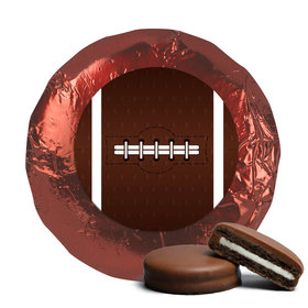 Super Bowl Themed Football Milk Chocolate Covered Oreos with Burgundy Foil (24 Pack)