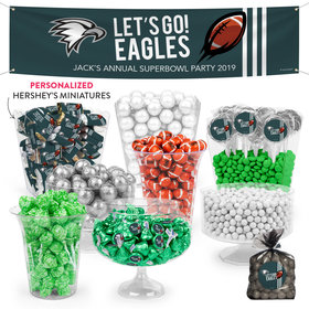 Personalized Eagles Football Party Deluxe Candy Buffet