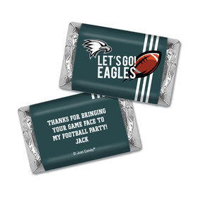 Personalized Eagles Football Party Hershey's Miniatures Wrappers