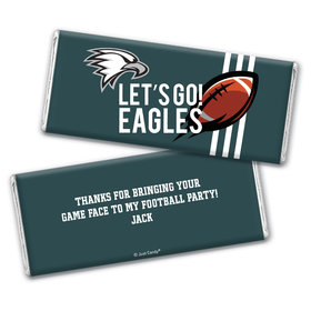 Personalized Eagles Football Party Chocolate Bar Wrappers Only