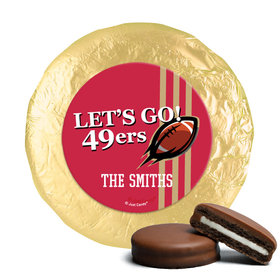 Personalized 49ers Football Party Chocolate Covered Oreos