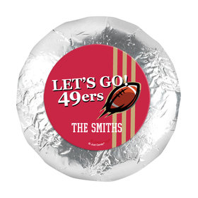 """Personalized 49ers Football Party 1.25"""" Stickers (48 Stickers)"""