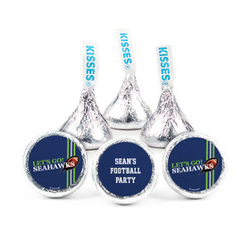 "3/4"" Sticker Personalized Seahawks Football Party (108 Stickers)"