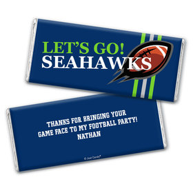 Personalized Seahawks Football Party Hershey's Chocolate Bar & Wrapper