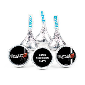 """3/4"""" Sticker Personalized Raiders Football Party (108 Stickers)"""